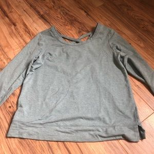 teal old navy long sleeve athletic top